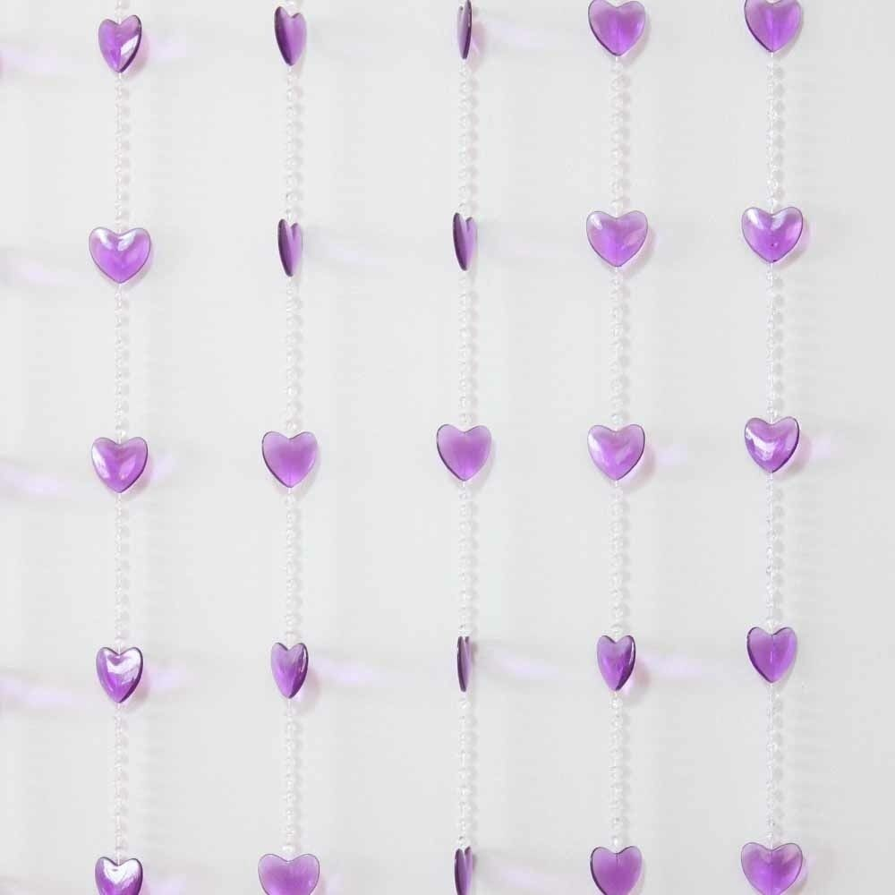 90x180cm beaded door curtains purple heart design mq 041 - Purple beaded door curtains ...