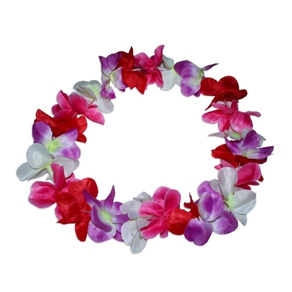 20 X Large 100cm Party Hawaiian Lei S Lay Assorted