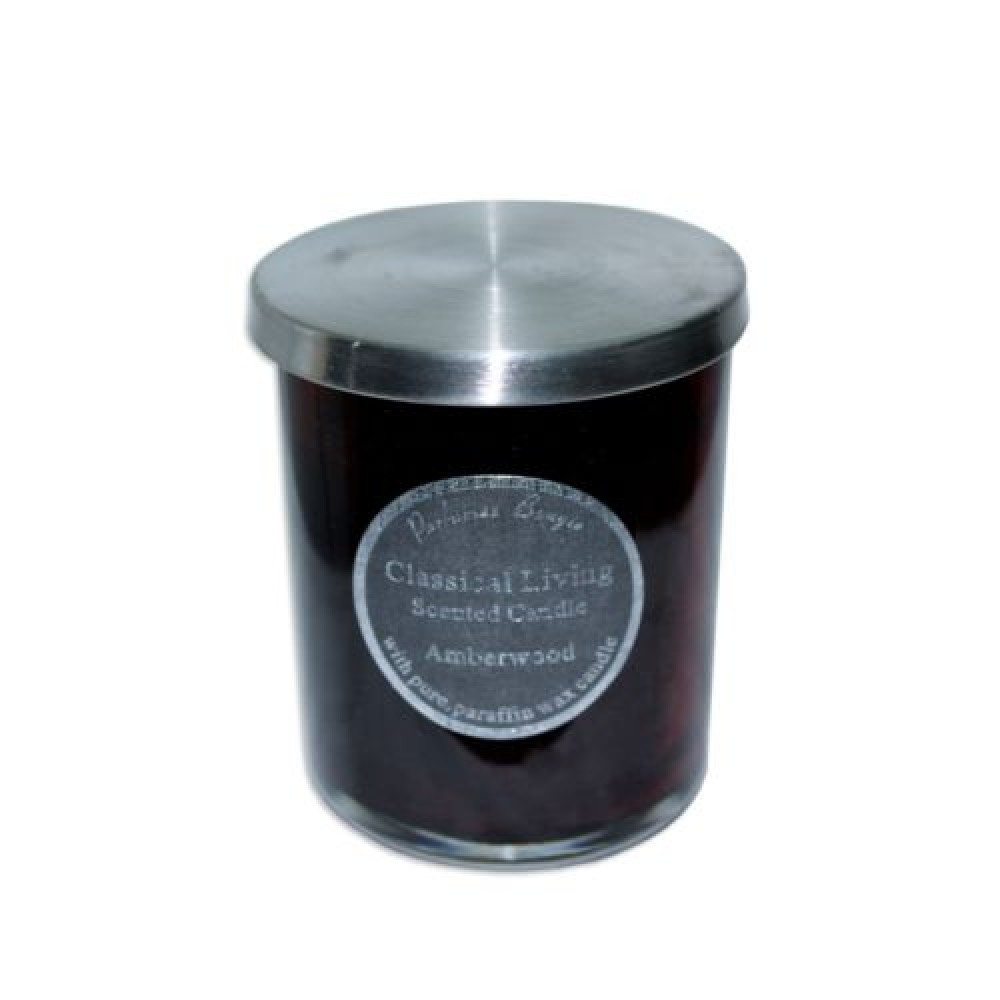 10cm Scented Candle In Glass Jar With Stainless Steel Lid
