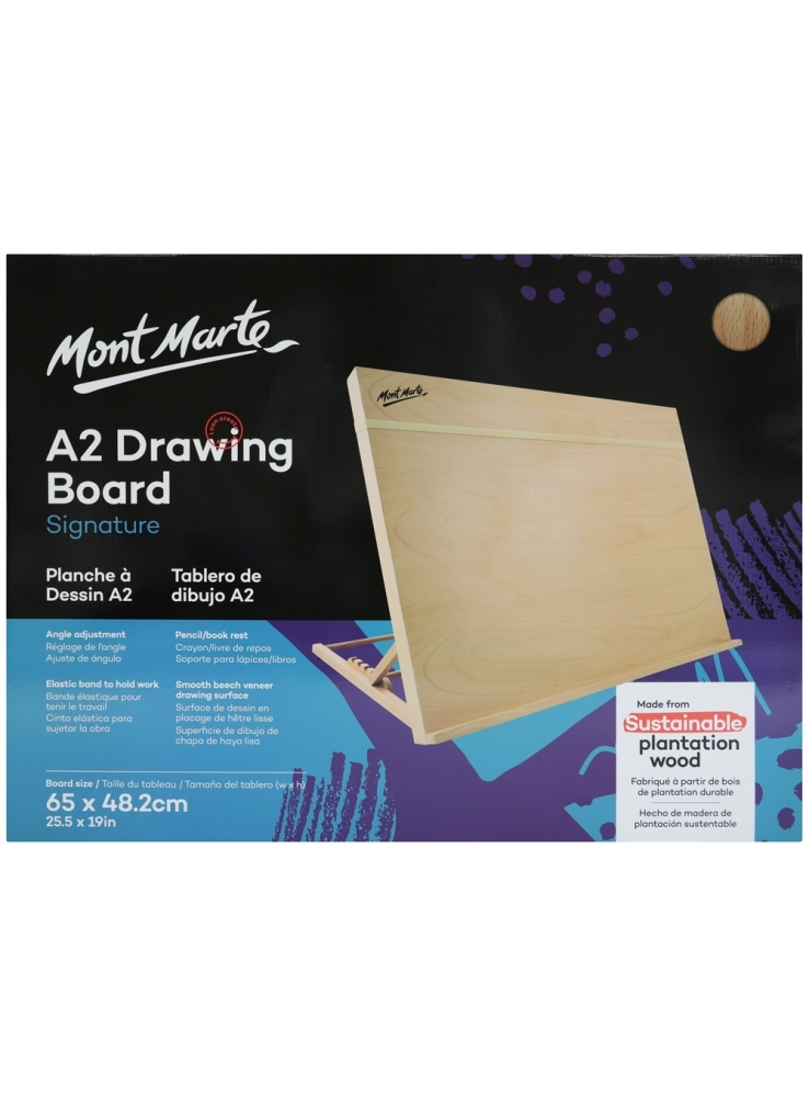 Mont Marte Drawing Board A2 With Band Table Easel