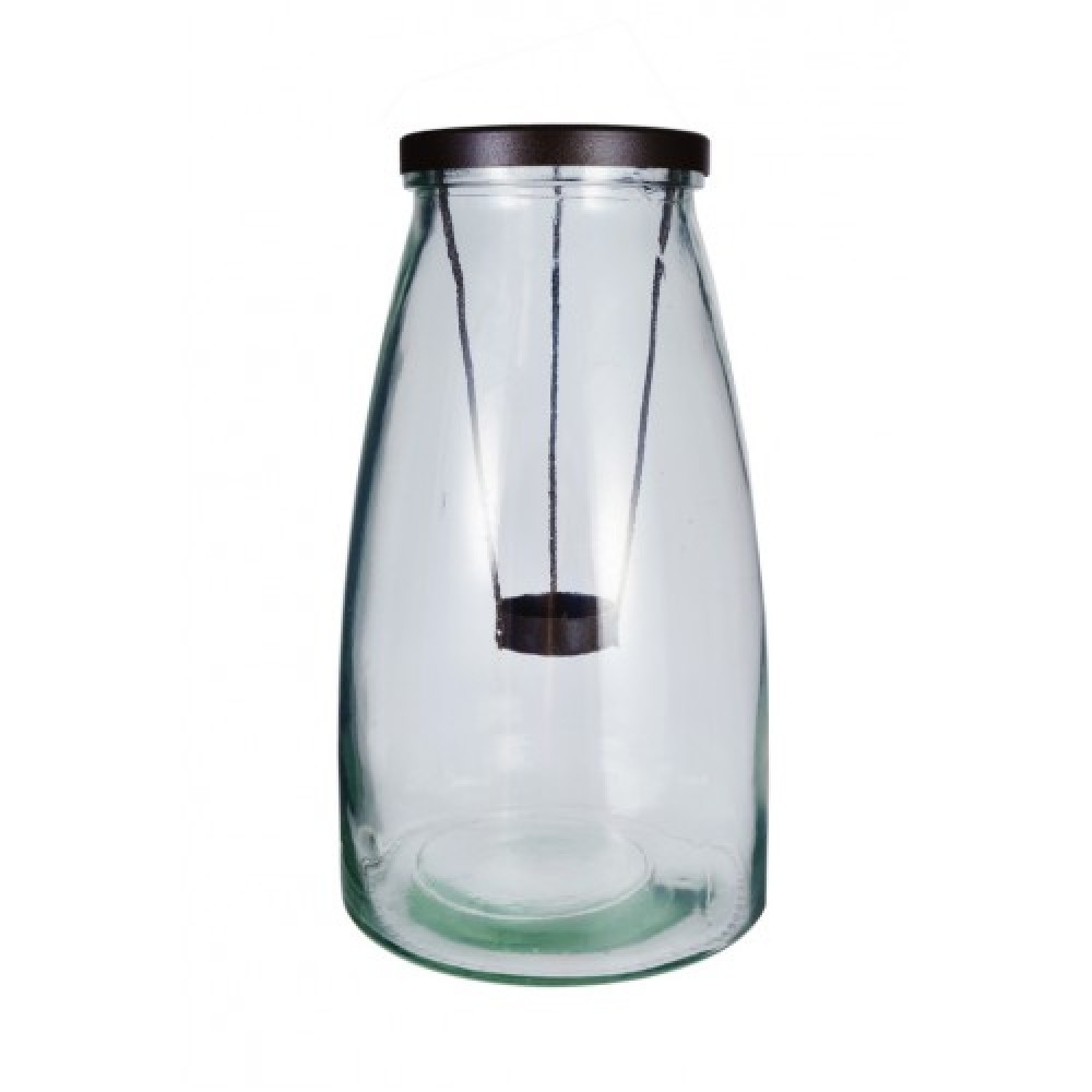 15X26Cm Milk Bottle Shape Glass Candle Holder With ...