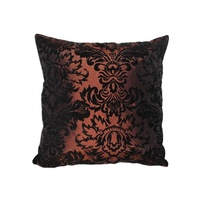 40x40cm Brown with Black FrenchProvincial Design Cushion Cover with Insert