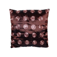 40x40cm Chocolate Retro Embroided Design Cushion Cover with Insert
