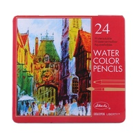1 Pack 24pce Liberty Watercolour Pencils in tin 24pce Water Soluble