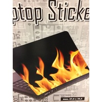 Fire Place Laptop Notebook Sticker Decal. Visible Through Skin or Cover.
