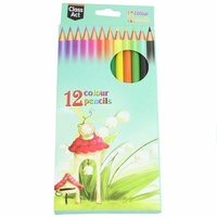 24 x Packs of 12 Kids Colour Bright Colour Colouring Pencils Drawing MQ-001