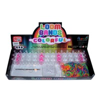 Fluro Loom Band Kit with 500pce Fluro Loom Bands, 16 S Hooks & Loom Board