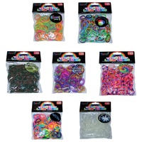 ASAH Neon Loom Bands 300pce Make + 16 S Clips