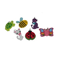 ASAH Cute Animal Charms for Looming 6pce will Suit All Type of Loombands