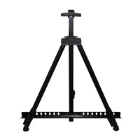 Black Aluminium Tripod Easel with Adjustable Feet suitable for up to 80x80cm With Carry Case