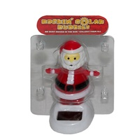 10cm Grooving Santa Solar Powered Great for the Car, Office or Kitchen