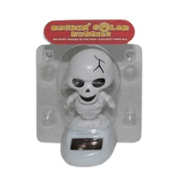10cm Grooving Skelleton Solar Powered Great for the Car, Office or Kitchen