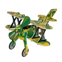 Kids 3D Green Bi-Plane Puzzle, Educational and Fun, Thinking Puzzles MQ009