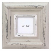 "23.5cm Brown Wash Wooden Photo Frame Beach Vintage Style 4x4"" prints"