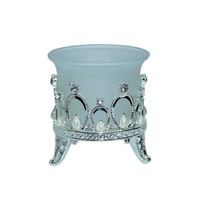 6pce x 7cm Metal Silver Tea Light Candle Holder Wedding Table Center Deco MQ72B