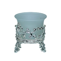 6pce x 7cm Metal Silver Tea Light Candle Holder Wedding Table Center Deco MQ73B