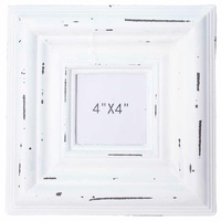 "23.5cm White Wash Wooden Photo Frame Beach Vintage Style 4x4"" prints"