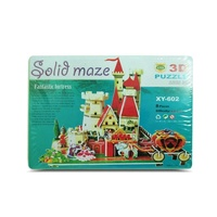 Kids 3D Megga Puzzle Castle Fortress House, Educational and Fun, MQ012