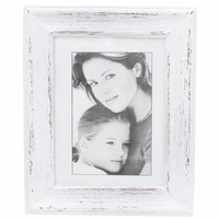 "27x22cm Wooden Beach White Wash Photo Frame for 6x8"" Prints Vintage Style"