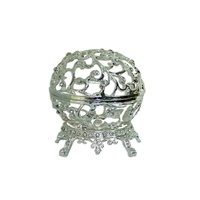 4pce x 8cm Metal Silver Tea Trinket with Stand Wedding Bomboniere Gift MQ80