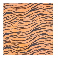 Bandana - Animal /Zebra Print Black, Fluro Orange Background 100% Cotton 55x55cm