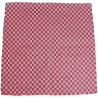 Bandana - Black and Red Small Check Design 100% Cotton 55x55cm