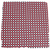 Bandana - Black, Red, White Small Check Design 100% Cotton 55x55cm