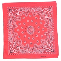 Bandana - Brilliant Red Traditional Nautical Paisley 100% Cotton 55x55cm copy