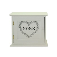 23cm White French Provincial Key, Jewellery Box with Door Heart /Home MQ024