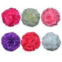 2 x 20cm Polyester Rose Flower Ball Hangable, Weddings MQ156