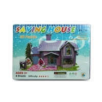 Kids 3D Super Puzzle Purple Doll House, Educational and Fun, Thinking MQ010