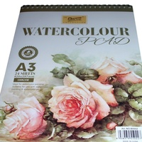 Watercolour Pad 180gsm 24 sheets A3 Acid Free for Watercolour Paints