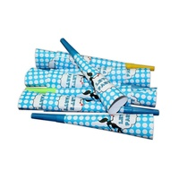 12pce Blue Polka Dots Theme Party Blow Horns 20cm for Birthday Parties