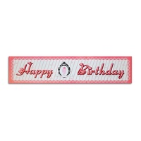 Pink Princess Theme Party Banner 100x30cm Sign Great for Happy Birthday Parties