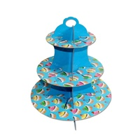 Blue Cake Design 36x32cm Cardboard Cupcake Stand Holds 16 Cakes Parties Events