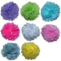2 x 35cm Tissue Paper Pompom for Weddings, Birthday, Xmas Events