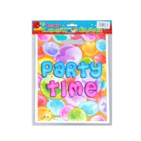 Party Time Theme Party Loot Bags 25x15cm Great for Lollies & Gifts for Kids