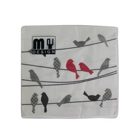 20 Pack Red Bird on Wire Design 2 ply Premium Party Napkins 33x33cm MQ-351