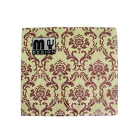20 Pack Red and Yellow French Design 2 ply Premium Party Napkins 33x33cm MQ-354