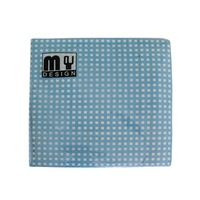 20 Pack Blue and White Check Design 2 ply Premium Party Napkins 33x33cm MQ-356