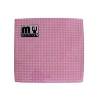 20 Pack Pink and White Check Design 2 ply Premium Party Napkins 33x33cm MQ-356