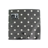 20 Pack Black and White Polka Dot Design 2 ply Premium Party Napkins 33x33cm MQ-359