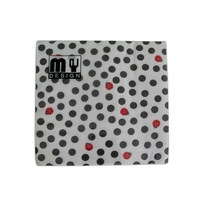 20 Pack Black Polka Dot with Beatles Design 2 ply Premium Party Napkins 33x33cm MQ-359
