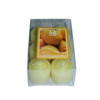 12 Lemon Votive Wax Scented Party Candles (2 Packs of 6) Yellow