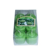 12 Apple Votive Wax Scented Party Candles (2 Packs of 6) Green