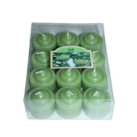 24 Apple Votive Wax Scented Party Candles (2 Packs of 12) Green