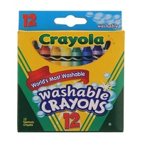 2 x Packs of 12 Crayola Washable Crayons Different Colours Small Size