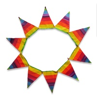 200cm x 30cm Rainbow Flag Bunting Flag, Gay Pride Theme, Colourful, Great for Home
