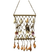 40cm X 20cm Hanging Shell Fish Net with Assorted Shells, Beach Theme, Wall Art