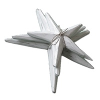 News of Three White Wash Wooden Starfish 14cm, 18cm, 22cm Hangable